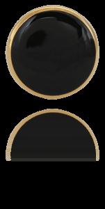 """Wolf & Gentlemen handgefertigte vergoldete Manschettenknöpfe Modell """"All Black"""" mit Onyx Stein"""